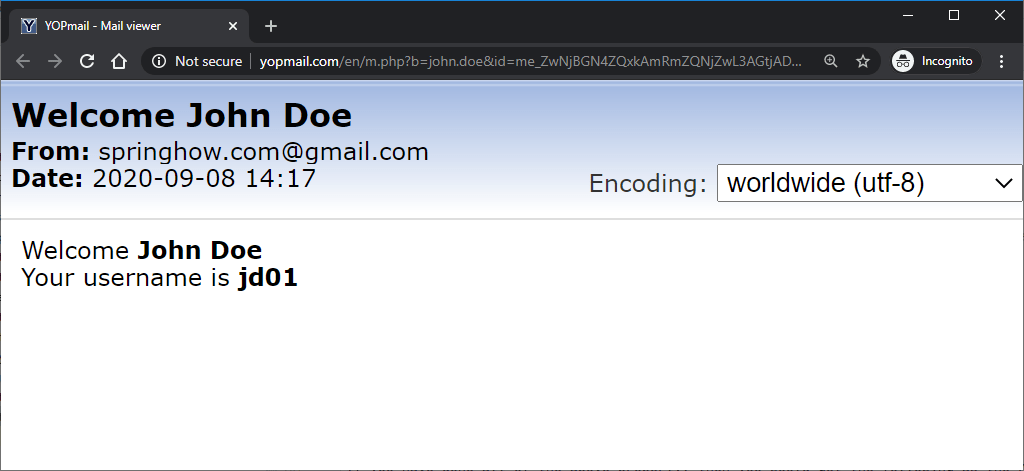 spring boot email template using thymeleaf in action