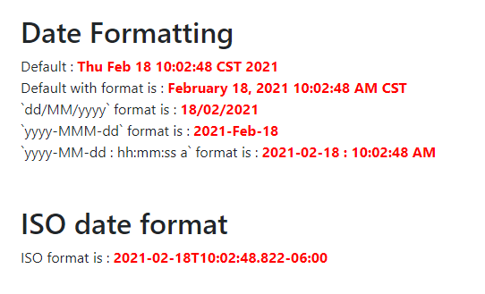 Simple date format using thymeleaf #dates utility