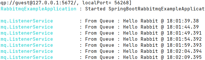 Spring Boot listening to RabbitMQ messages