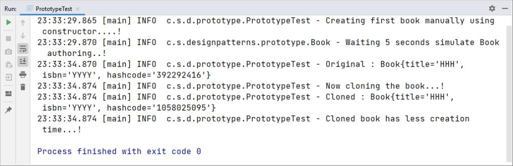 prototype design pattern example in java