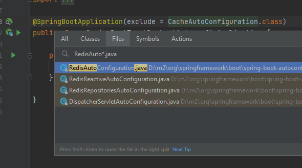 how to find auto configuration classes by name