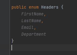 java enum as header values in Apache Common CSV