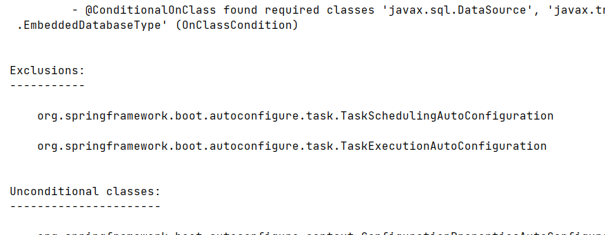 excluding certain auto-configurations using @SpringBootApplication annotation